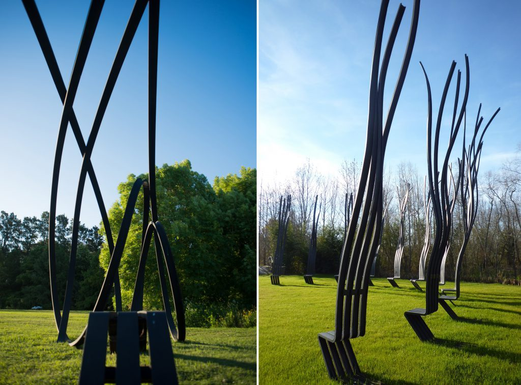 Pablo Reinoso Works – Left Talking Bench 188 – Right Silla de la Aromonia