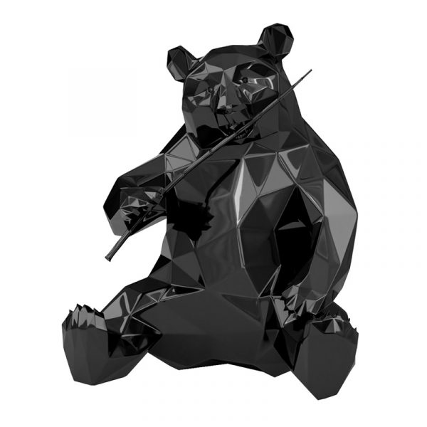Resin Panda Sculpture Richard Orlinski Black