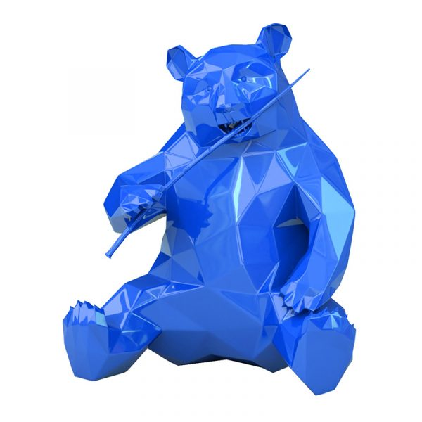 Resin Panda Sculpture Richard Orlinski Blue