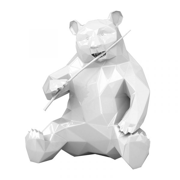 Resin Panda Sculpture Richard Orlinski White