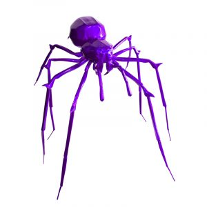 1H907003 Spider Sculpture Statues Artwork Supply Purple