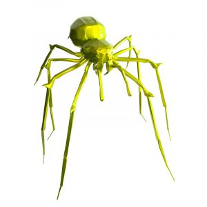 1H907003 Spider Sculpture Statues Artwork Supply Yellow