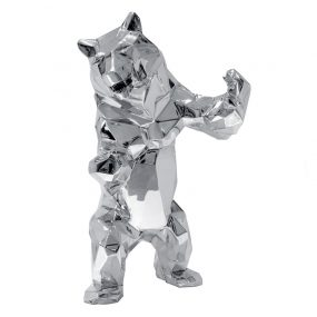 1H911002 Bear Sculpture Art Deco Studio Sliver