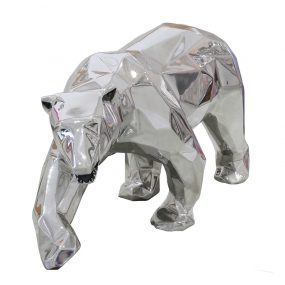 1H911003 Art Deco Polar Bear Sculpture Workshop Sliver