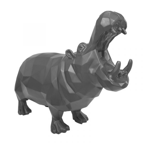 Black Hippo Sculpture China Supplier