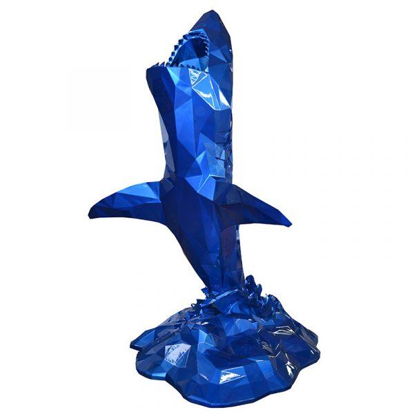 Great White Shark Sculpture Blue