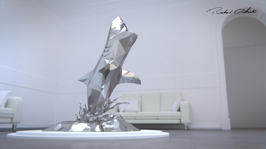 Great White Shark Sculpture Supplier (3)