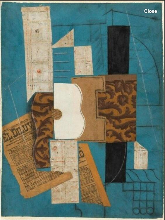 Guitar (1913) by Pablo Picasso