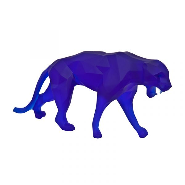 Leopard Sculpture Resin Blue