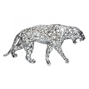 Leopard Sculpture Stainless Steel