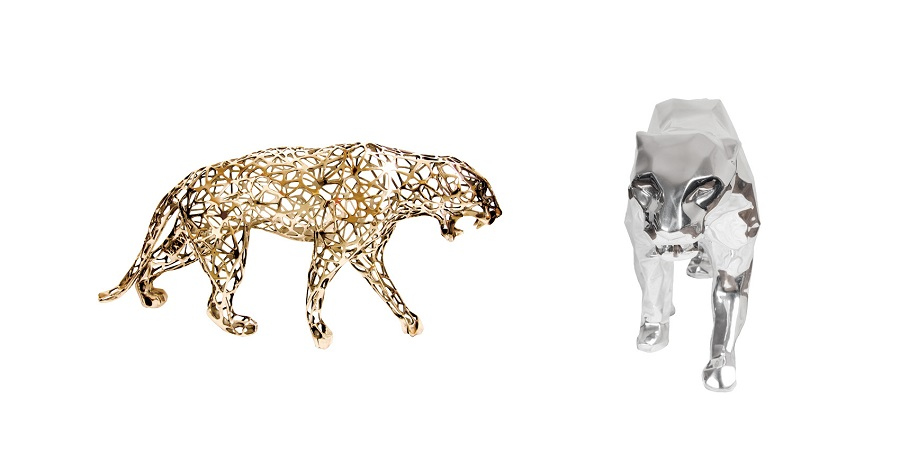 Leopard Sculpture Stainless Steel Supplier (8)