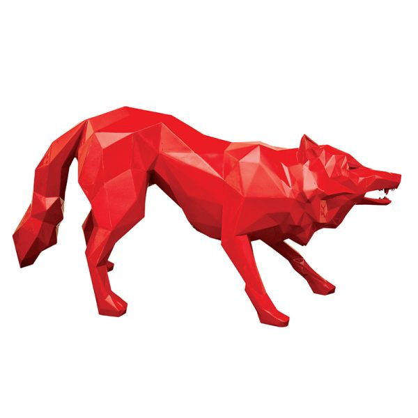 Life Size Wolf Sculpture Resin Maker Rouge