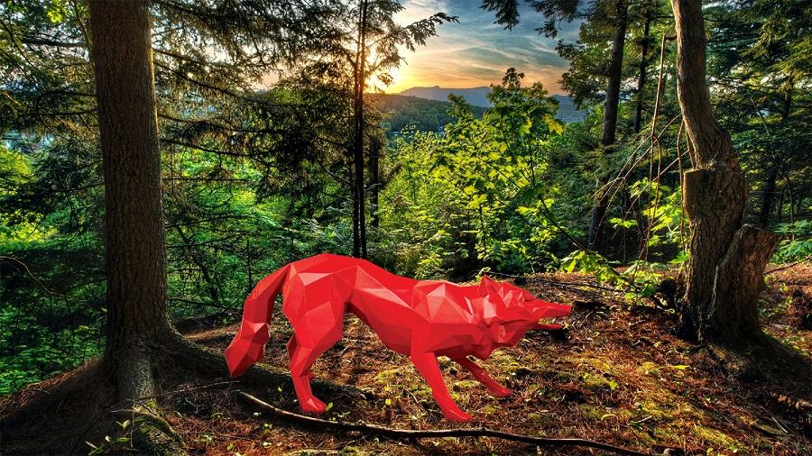 Life Size Wolf Sculpture Resin Maker (2)