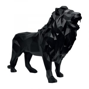 Lion Sculpture For Sale Black