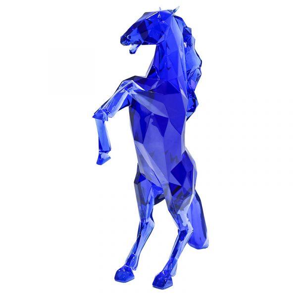 Resin Horse Sculptures China Maker Blue