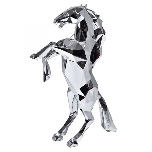 Resin Horse Sculptures China Maker Silver