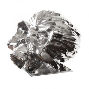 Resin Skull Statues Chrome Plated (1)