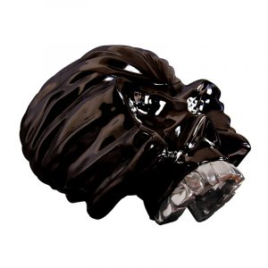 Resin Skull Statues Chrome Plated (2)