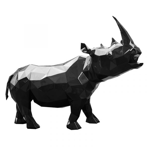 Rhinoceros Sculpture Supply Black