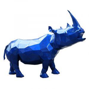 Скульптура носорога синего цвета