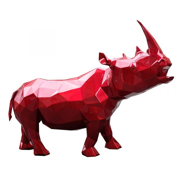 Rhinoceros Sculpture Supply Red