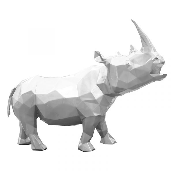 Rhinoceros Sculpture Supply White