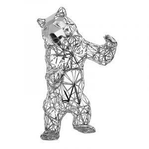 Fornecedor de esculturas de urso de aço inoxidável