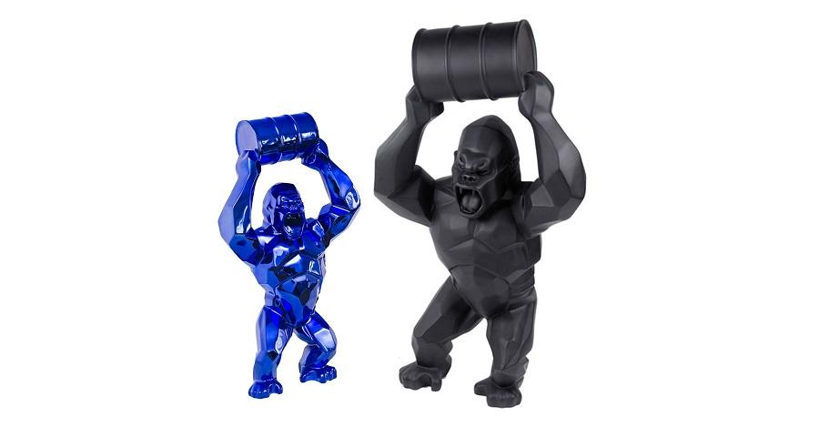 Sculpture King Kong Plated Chrome Maker (5)