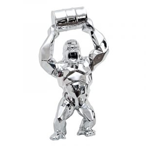 Sculpture King Kong Plated Chrome Maker Sliver