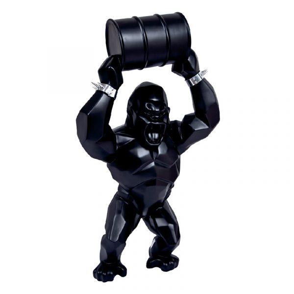 Sculpture King Kong Resin Black
