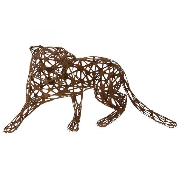 Stainless Steel Metal Tiger Sculpture bronze