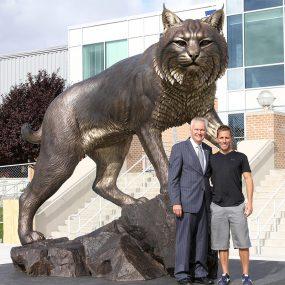 Bobcat Sculpture Statues Bronze Casting (2)