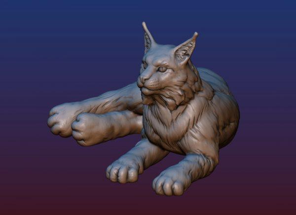 1HA09001 Bobcat Sculpture Statues Bronze Casting (1)