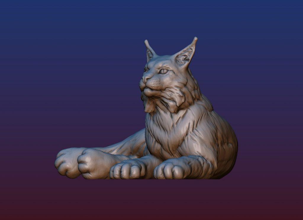 1HA09001 Bobcat Sculpture Statues Bronze Casting (10)