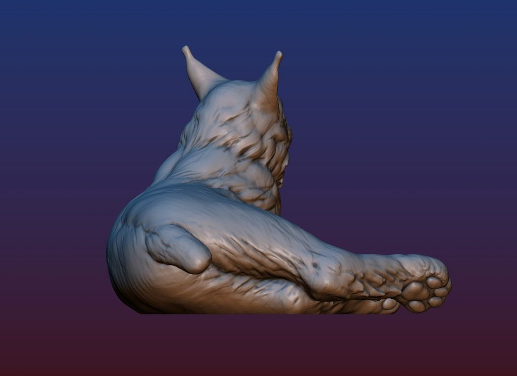 1HA09001 Bobcat Sculpture Statues Bronze Casting (12)