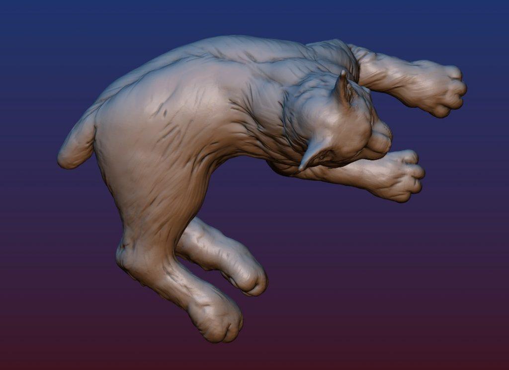 1HA09001 Bobcat Sculpture Statues Bronze Casting (14)
