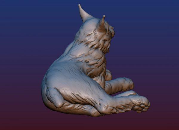 1HA09001 Bobcat Sculpture Statues Bronze Casting (4)