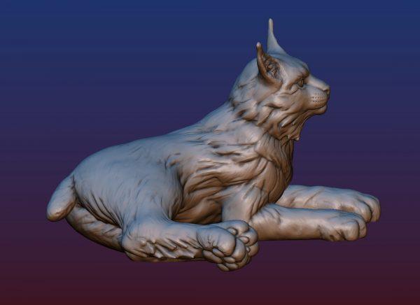 1HA09001 Bobcat Sculpture Statues Bronze Casting (5)