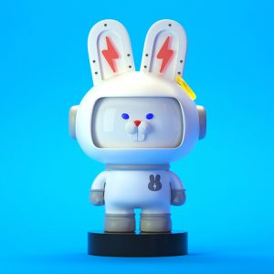 small plastic rabbit figurines (6)