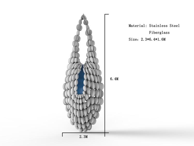 1I709015 Jewelry Sculpture Necklace Fiberglass Factory (2)