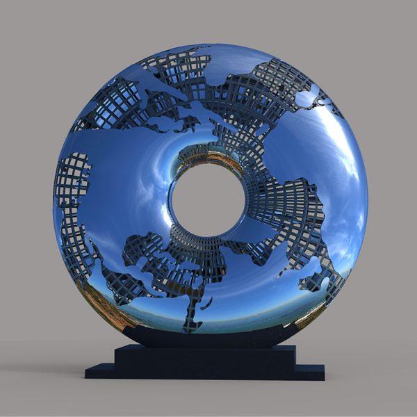 1I709031 Mirror Stainless Steel Sculpture (1)