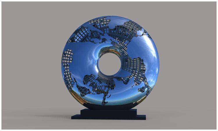 1I709031 Mirror Stainless Steel Sculpture (3)