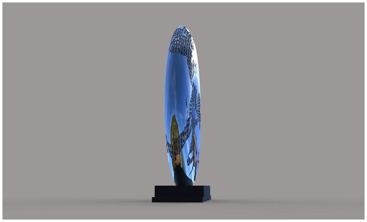 1I709031 Mirror Stainless Steel Sculpture (4)