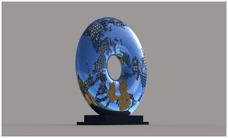 1I709031 Mirror Stainless Steel Sculpture (5)