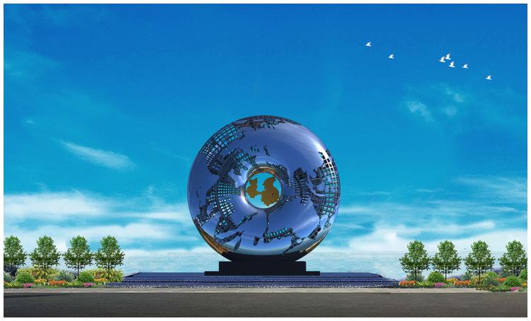 1I709031 Mirror Stainless Steel Sculpture (8)