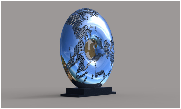 1I709031 Mirror Stainless Steel Sculpture (9)