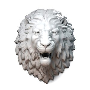 1I711002 resin lion head (1)