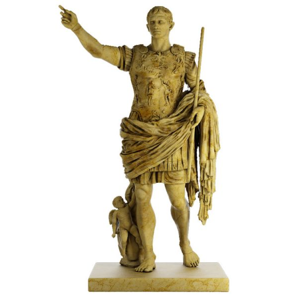 1I711003 augustus caesar statue marble stone garden (1)