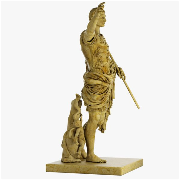 1I711003 augustus caesar statue marble stone garden (4)