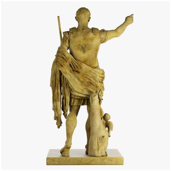 1I711003 augustus caesar statue marble stone garden (6)